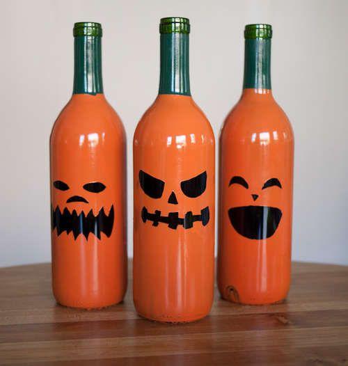 Halloween-garrafas-de-vidro-recicladas