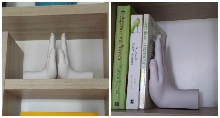 aparador de livros mão tok stok