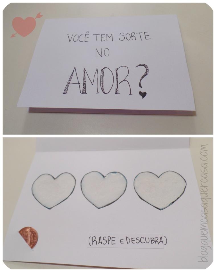 cartão criativo raspadinha do amor