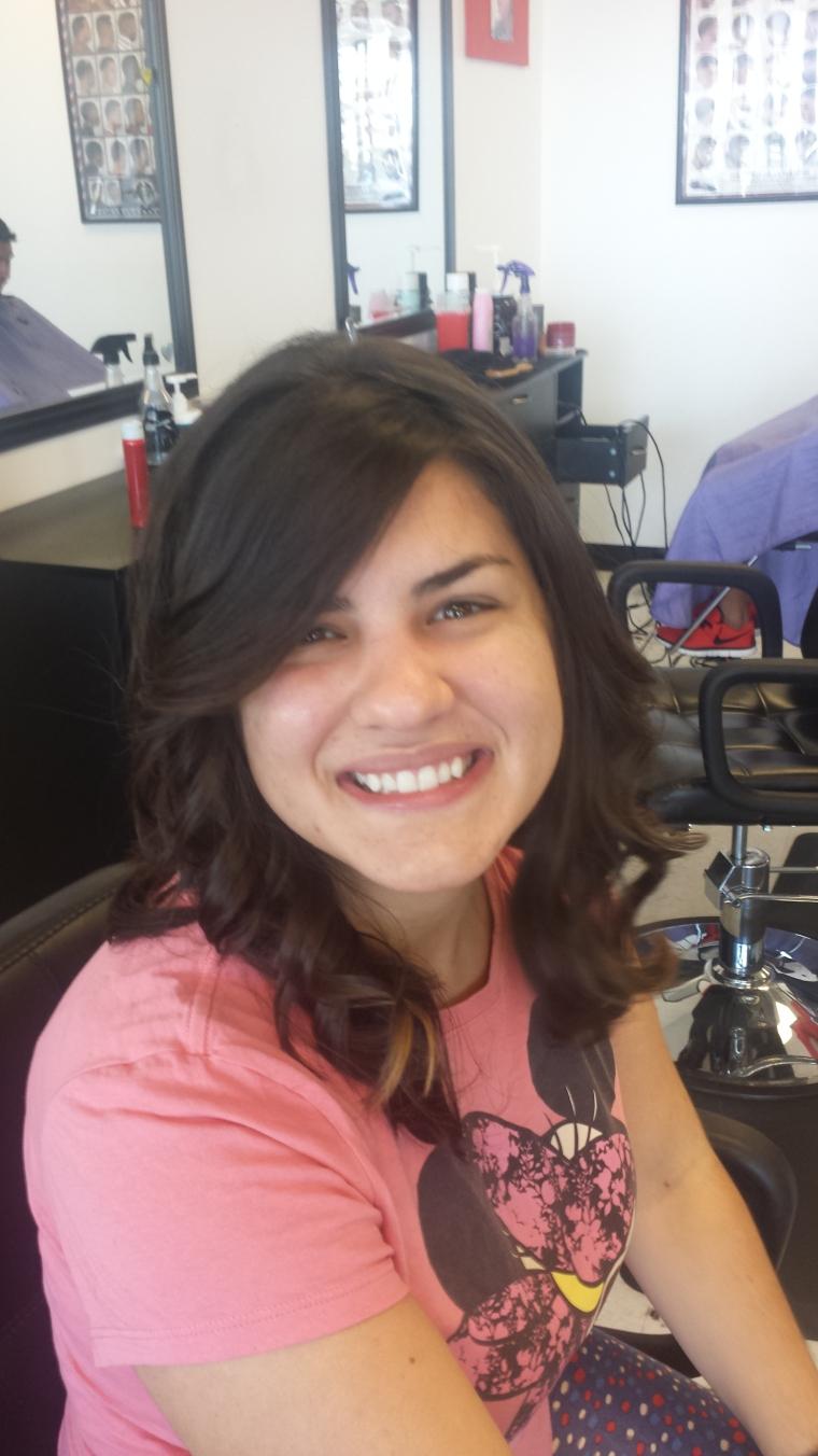 corte cabelo médio